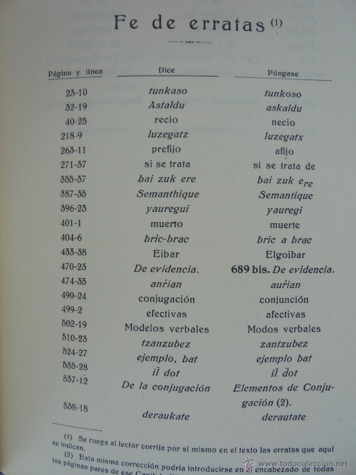 Diccionarios de segunda mano: GRAMATICA BASICA DIALECTAL DEL EUSKERA-MORFOLOGIA VASCA. AZKUE ALTUBE. DICCIONARIO VASCO. ARBELAITZ. - Foto 34 - 51019096
