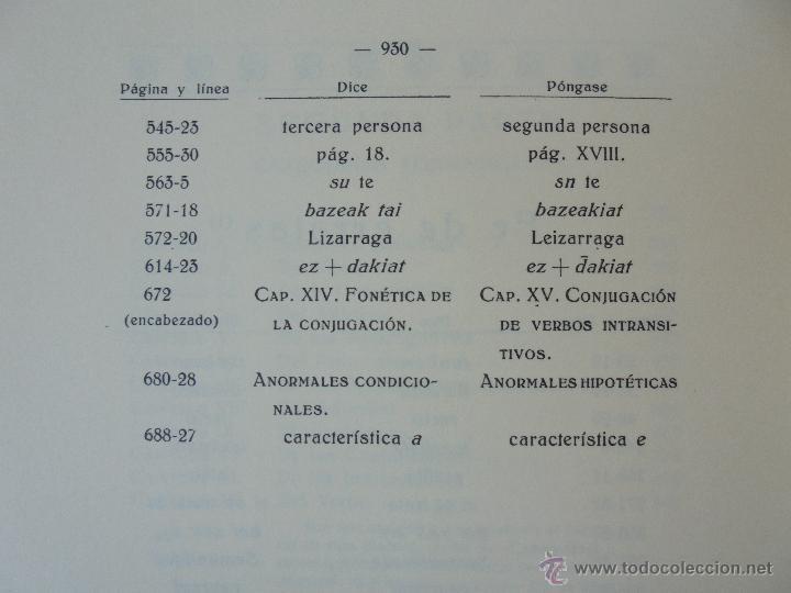 Diccionarios de segunda mano: GRAMATICA BASICA DIALECTAL DEL EUSKERA-MORFOLOGIA VASCA. AZKUE ALTUBE. DICCIONARIO VASCO. ARBELAITZ. - Foto 35 - 51019096