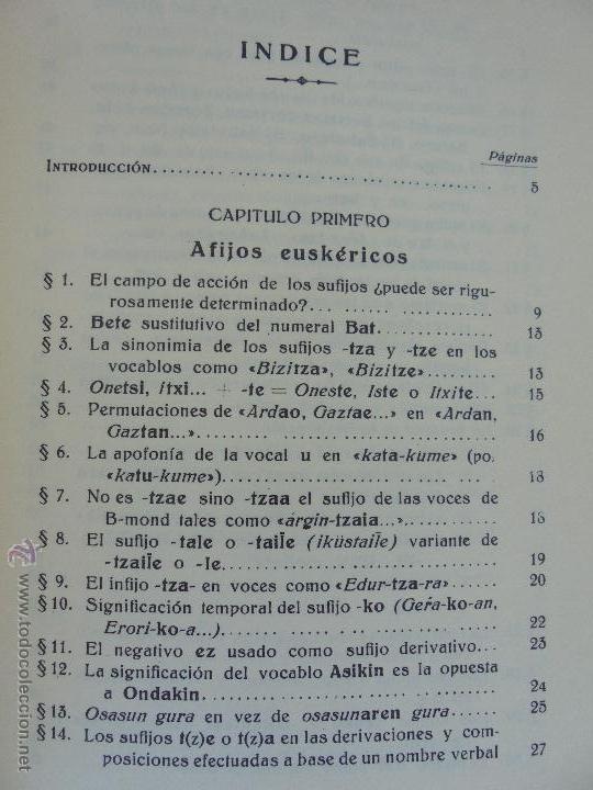 Diccionarios de segunda mano: GRAMATICA BASICA DIALECTAL DEL EUSKERA-MORFOLOGIA VASCA. AZKUE ALTUBE. DICCIONARIO VASCO. ARBELAITZ. - Foto 51 - 51019096