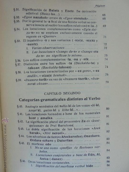 Diccionarios de segunda mano: GRAMATICA BASICA DIALECTAL DEL EUSKERA-MORFOLOGIA VASCA. AZKUE ALTUBE. DICCIONARIO VASCO. ARBELAITZ. - Foto 53 - 51019096