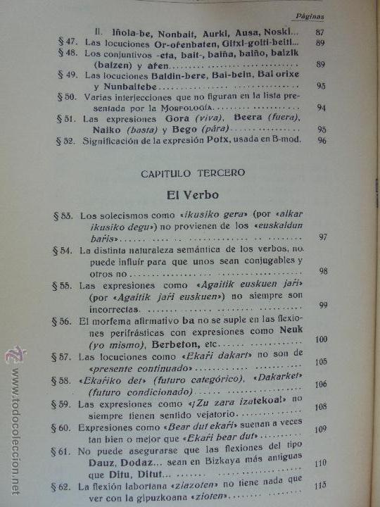 Diccionarios de segunda mano: GRAMATICA BASICA DIALECTAL DEL EUSKERA-MORFOLOGIA VASCA. AZKUE ALTUBE. DICCIONARIO VASCO. ARBELAITZ. - Foto 54 - 51019096