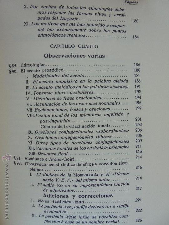 Diccionarios de segunda mano: GRAMATICA BASICA DIALECTAL DEL EUSKERA-MORFOLOGIA VASCA. AZKUE ALTUBE. DICCIONARIO VASCO. ARBELAITZ. - Foto 57 - 51019096