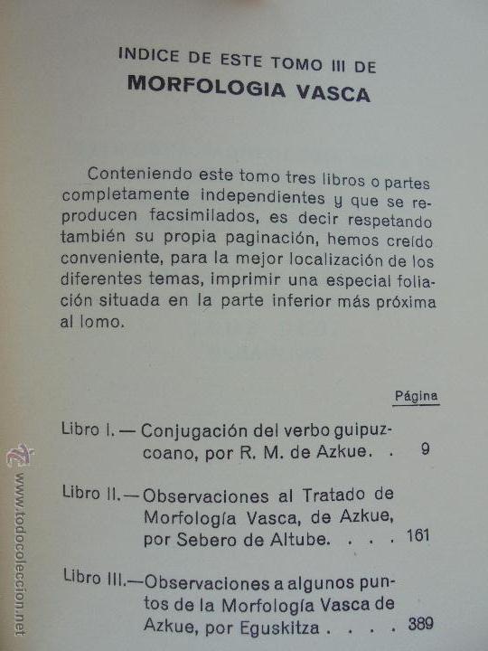 Diccionarios de segunda mano: GRAMATICA BASICA DIALECTAL DEL EUSKERA-MORFOLOGIA VASCA. AZKUE ALTUBE. DICCIONARIO VASCO. ARBELAITZ. - Foto 58 - 51019096