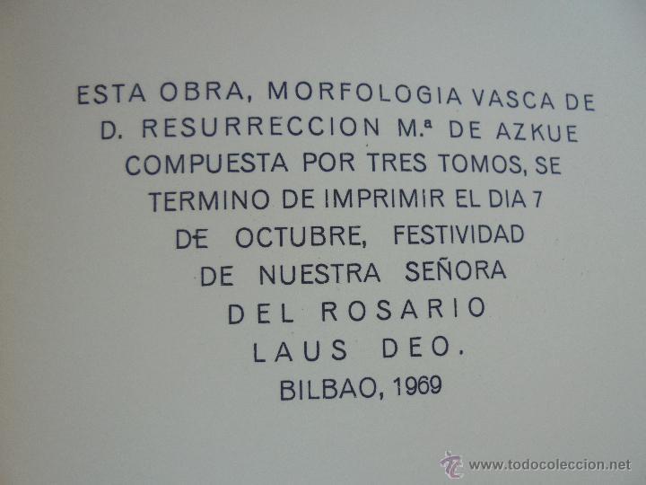 Diccionarios de segunda mano: GRAMATICA BASICA DIALECTAL DEL EUSKERA-MORFOLOGIA VASCA. AZKUE ALTUBE. DICCIONARIO VASCO. ARBELAITZ. - Foto 59 - 51019096