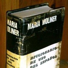 Diccionarios de segunda mano: DICCIONARIO DE USO DEL ESPAÑOL A-G (SÓLO TOMO 1) POR MARÍA MOLINER DE ED. GREDOS EN MADRID 1990. Lote 52571461