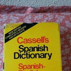 Diccionarios de segunda mano: DICCIONARIO CASSELL´S SPANISH-ENGLISH Y ENGLISH SPANISH: : UN BEST-SELLER . Lote 51705274
