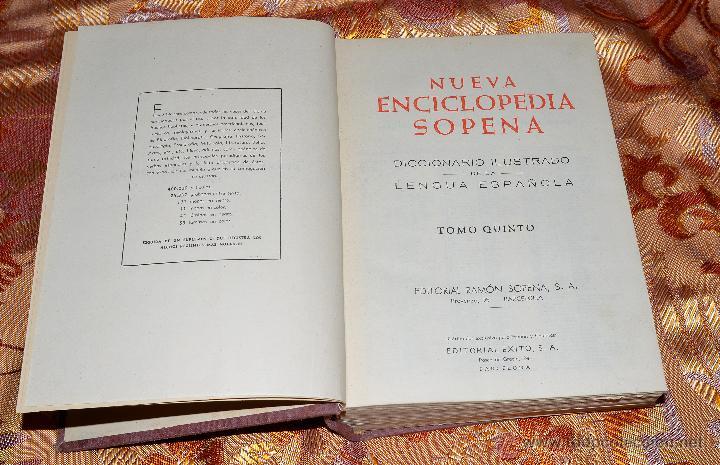 Diccionarios de segunda mano: DICCIONARIO ILUSTRADO DE LA LENGUA ESPAÑOLA, NUEVA ENCICLOPEDIA SOPENA,TOMO QUINTO - Foto 2 - 51762751