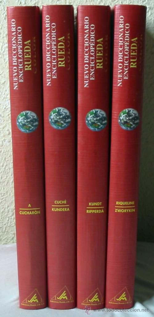 NUEVO DICCIONARIO ENCICLOPÉDICO RUEDA COLOR - 4 TOMOS COMPLETO - 1016 PÁGINAS - VER DESCRIPCIÓN (Libros de Segunda Mano - Diccionarios)