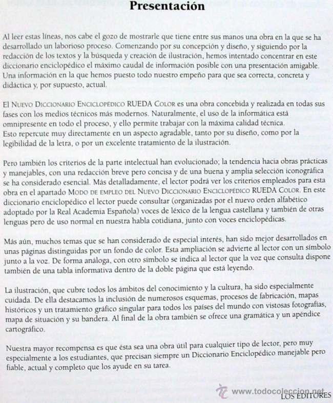 Diccionarios de segunda mano: NUEVO DICCIONARIO ENCICLOPÉDICO RUEDA COLOR - 4 TOMOS COMPLETO - 1016 PÁGINAS - VER DESCRIPCIÓN - Foto 3 - 52341781