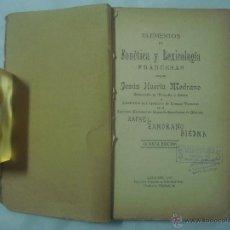 Diccionarios de segunda mano: HUERTA MEDRANO. ELEMENTOS DE FONÉTICA Y LEXICOLOGIA FRANCESAS. 1927. FOLIO MENOR. Lote 52353379
