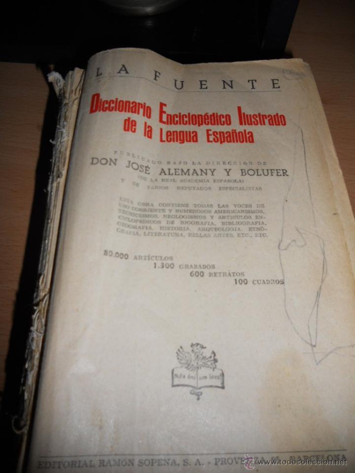 DICCIONARIO ENCICLOPÉDICO ILUSTRADO DE LA LENGUA ESPAÑOLA (Libros de Segunda Mano - Diccionarios)
