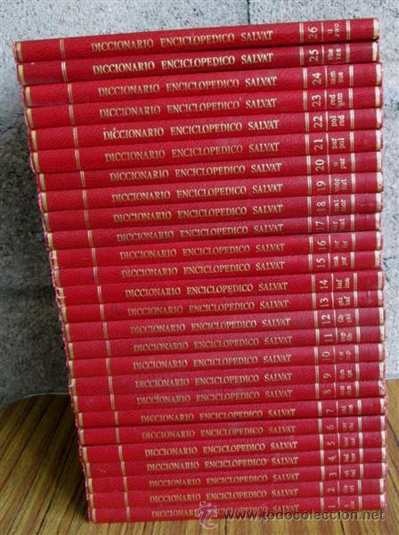 26 TOMOS - DICCIONARIO ENCICLOPEDICO SALVAT - BARCELONA, 1985. (Libros de Segunda Mano - Diccionarios)