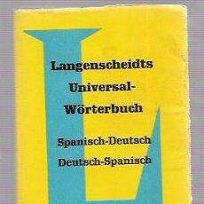 Diccionarios de segunda mano: MINI DICCIONARIO SPANISH-DEUTSCH. EDIT. LANGENSCHEIDT. 1960. 400 PAGS. 11,5X8 CM. CON SOBRECUBIERTA.. Lote 52808879