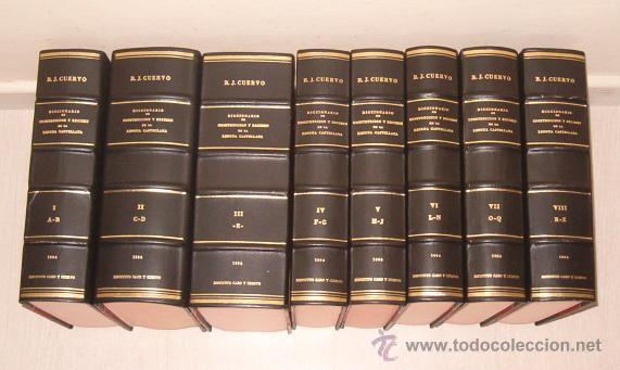 DICCIONARIO DE CONSTRUCCIÓN Y RÉGIMEN DE LA LENGUA CASTELLANA. OCHO TOMOS. RM72062. (Libros de Segunda Mano - Diccionarios)