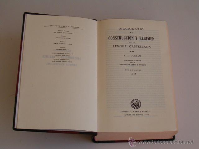 Diccionarios de segunda mano: Diccionario de Construcción y Régimen de la Lengua Castellana. OCHO TOMOS. RM72062. - Foto 3 - 52818162