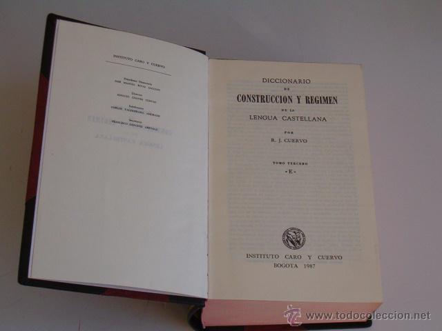 Diccionarios de segunda mano: Diccionario de Construcción y Régimen de la Lengua Castellana. OCHO TOMOS. RM72062. - Foto 5 - 52818162