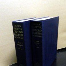 Diccionarios de segunda mano: THE NEW SHORTER OXFORD ENGLISH DICTIONARY (2 VOL.) LESLEY BROWN 1993 DICCIONARIO INGLÉS. Lote 52980392