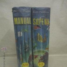 Diccionarios de segunda mano - MANUAL SOPENA DICCIONARIO ENCICLOPEDICO ILUSTRADO EN 2 VOLUMENES. EDICION 1956 - 53176856