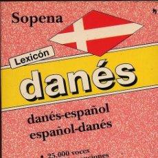 Diccionarios de segunda mano: DICCIONARIO DANES ESPAÑOL ESPAÑOL DANES - 25 VOCES Y 45 ACEPCIONES - SOPENA - VER FOTO-(REFSAMIIZES1. Lote 53271098
