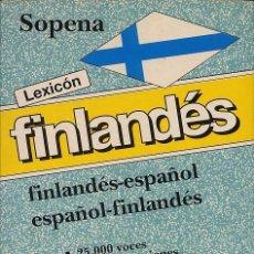 Diccionarios de segunda mano: DICCIONARIO FINLANDES ESPAÑOL ESPAÑOL FINLANDES 25 VOCES Y 45 ACEPCIONES - SOPENA. Lote 219345290