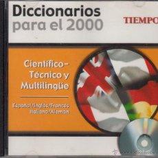 Diccionarios de segunda mano: CD-ROM DICCIONARIO CIENTÍFICO-TÉCNICO Y MULTILINGÜE, DICCIONARIOS PARA EL 2000. REVISTA TIEMPO. Lote 53477730
