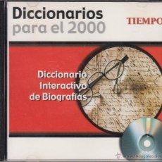 Diccionarios de segunda mano: CD-ROM DICCIONARIO INTERACTIVO DE BIOGRAFÍAS, DICCIONARIOS PARA EL 2000. REVISTA TIEMPO. Lote 53477740