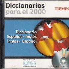 Diccionarios de segunda mano: CD-ROM DICCIONARIO ESPAÑOL - INGLÉS, INGLÉS - ESPAÑOL, DICCIONARIOS PARA EL 2000. REVISTA TIEMPO. Lote 53477773