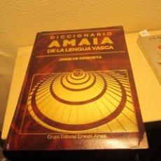 Diccionarios de segunda mano: DICCIONARIO DE LA LENGUA VASCA - NUEVO - EDICION LIMITADA JAIME DE KEREXETA - AMAIA 1990. Lote 53580503