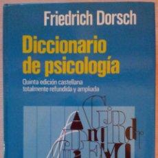 Diccionarios de segunda mano: DICCIONARIO DE PSICOLOGIA - 5ª EDICION CASTELLANA TOTALMENTE REFUNDIDA Y AMPLIADA. Lote 53644223