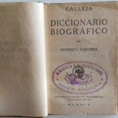 Diccionarios de segunda mano: DICCIONARIO BIOGRÁFICO HOMBRES ILUSTRES - DICCIONARIOS BREVES CALLEJA 1920 - MINIATURA. Lote 53765876