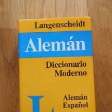 Diccionarios de segunda mano: DICCIONARIO MODERNO ALEMAN, ESPAÑOL, LANGENSCHEIDT. Lote 53881656