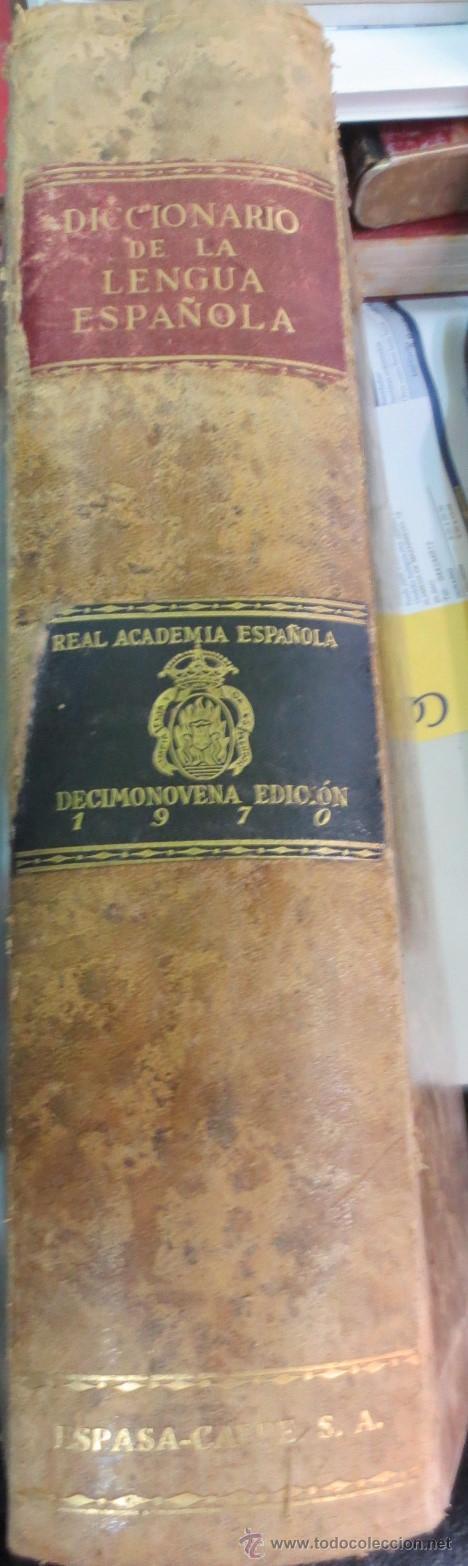 DICCIONARIO DE LA LENGUA ESPAÑOLA REAL ACADEMIA ESPAÑOLA EDIT ESPASA-CALPE AÑO 1970 (Libros de Segunda Mano - Diccionarios)