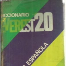 Diccionarios de segunda mano: DICCIONARIO EVEREST 20. EDITORIAL EVEREST. LEÓN. 1974. Lote 54407514
