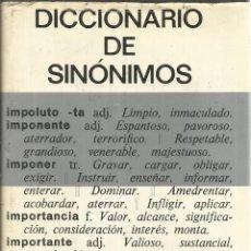 Diccionarios de segunda mano: DICCIONARIO DE SINÓNIMOS. BIBLOGRAF. BARCELONA. 1980. Lote 54407541