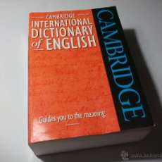 Diccionarios de segunda mano: DICCIONARIO INGLÉS. INTERNATIONAL DICCIONARY OF ENGLISH. CAMBRIDGE.. 1995. Lote 206591531