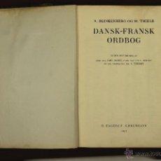 Diccionarios de segunda mano: 7035 - DANSK-FRANSK ORDBOG,2 VOLÚMENES. VV. AA.(VER DESCRIP). EDI. H. HAGERUP. 1937.. Lote 52504476