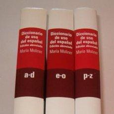 Diccionarios de segunda mano: MARÍA MOLINER. DICCIONARIO DE USO DEL ESPAÑOL EDICIÓN ABREVIADA. TRES TOMOS. RM73515. . Lote 54802318