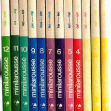 Diccionarios de segunda mano: DICCIONARIO MINILAROUSSE ILUSTRADO COMPLETO -12 TOMOS. Lote 53266949