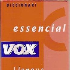 Diccionarios de segunda mano: DICCIONARI ESSENCIAL VOX LLENGUA CATALANA. Lote 55224716