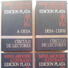 Diccionarios de segunda mano: MINILAROUSSE ILUSTRADO 4 TOMOS - EDICION PLATA, CIRCULO DE LECTORES 1987. Lote 55859350