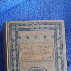 Diccionarios de segunda mano: DICCIONARIO INGLÉS - ESPAÑOL Y ESPAÑOL-INGLÉS / RICARDO ROBERSTON / EDITORIAL RAMON SOPENA / 1937. Lote 56161997