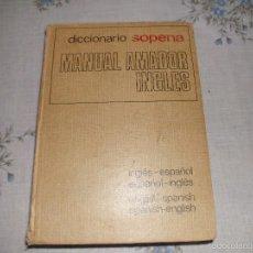 Diccionarios de segunda mano: DICCIONARIO INGLES SOPENA 1974. Lote 56203894