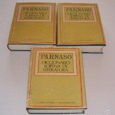 Diccionarios de segunda mano: MAURO ARMIÑO (DIR.). PARNASO. DICCIONARIO SOPENA DE LITERATURA. TRES TOMOS. RMT74594. . Lote 56721289