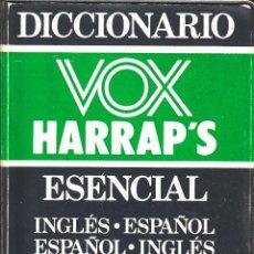 Diccionarios de segunda mano: DICCIONARIO VOX HARRAP'S ESENCIAL INGLÉS - ESPAÑOL - ESPAÑOL INGLÉS - VOX. Lote 56993996
