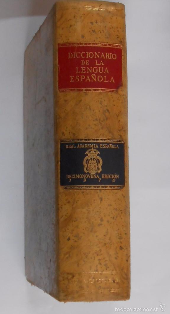 DICCIONARIO DE LA LENGUA ESPAÑOLA. REAL ACADEMIA ESPAÑOLA. ESPASA CALPE. 19ª EDICION. 1970. ARM24 (Libros de Segunda Mano - Diccionarios)