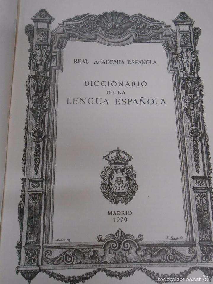 Diccionarios de segunda mano: DICCIONARIO DE LA LENGUA ESPAÑOLA. REAL ACADEMIA ESPAÑOLA. ESPASA CALPE. 19ª EDICION. 1970. Arm24 - Foto 6 - 31663895