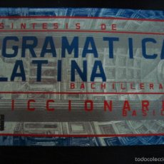 Diccionarios de segunda mano: SINTESIS DE LA GRAMATICA LATINA. BACHILLERATO. DICIONARIO BASICO. MERCEDES MARTIN HERNANDEZ. SM 2001. Lote 210633353