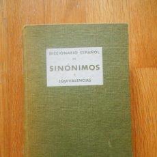 Diccionarios de segunda mano: DICCIONARIO ESPAÑOL DE SINONIMOS Y EQUIVALENCIAS, EDITORIAL AEDOS. Lote 57075533