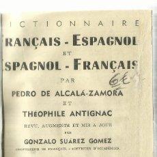 Diccionarios de segunda mano: DICCIONARIO FRANCAIS ESPAGNOL. GONZÁLEZ SUÁREZ GÓMEZ. EDICIONES SOPENA. BARCELONA.. Lote 57658486