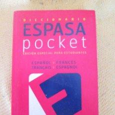Diccionarios de segunda mano: ESPASA POCKET ESPAÑOL-FRANCES/ FRANCES-ESPAÑOL. Lote 57671187